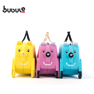 BUBULE 19'' Popular PP Wheeled Dog Luggage Cute Ride On Kids Suitcase