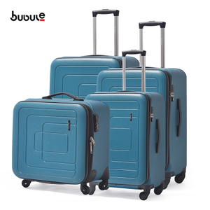 BUBULE Manufacturer 4PCS Zipper Travel Bag Luggage Sets PP Spinner Trolley Suitcase