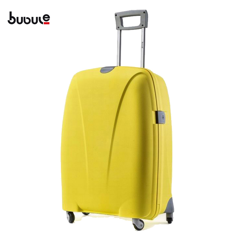 BUBULE 18'' large capacity trolley luggage PP hard case travel trolley bags for travel and shopping