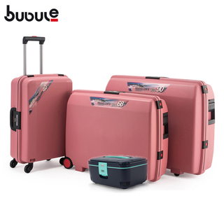 BUBULE 4pcs Wheeled Trolley Luggage Bag Sets Classic Style Travel Suitcases