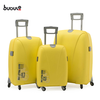 BUBULE 3PCS PP Trolley Luggage Sets Wheeled Spinner Travel Bag Suitcases